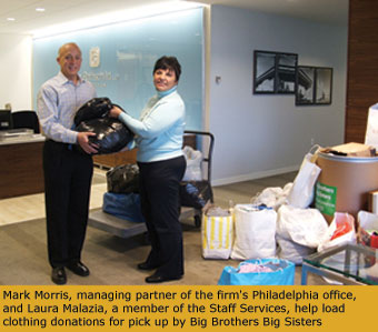 Mark Morris, Office Managing Partner of Philadelphia and Laura Malaria, Staff Services