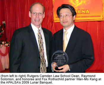 Wan-Mo Kang of Fox Rothschild LLP Honored by Rutgers University